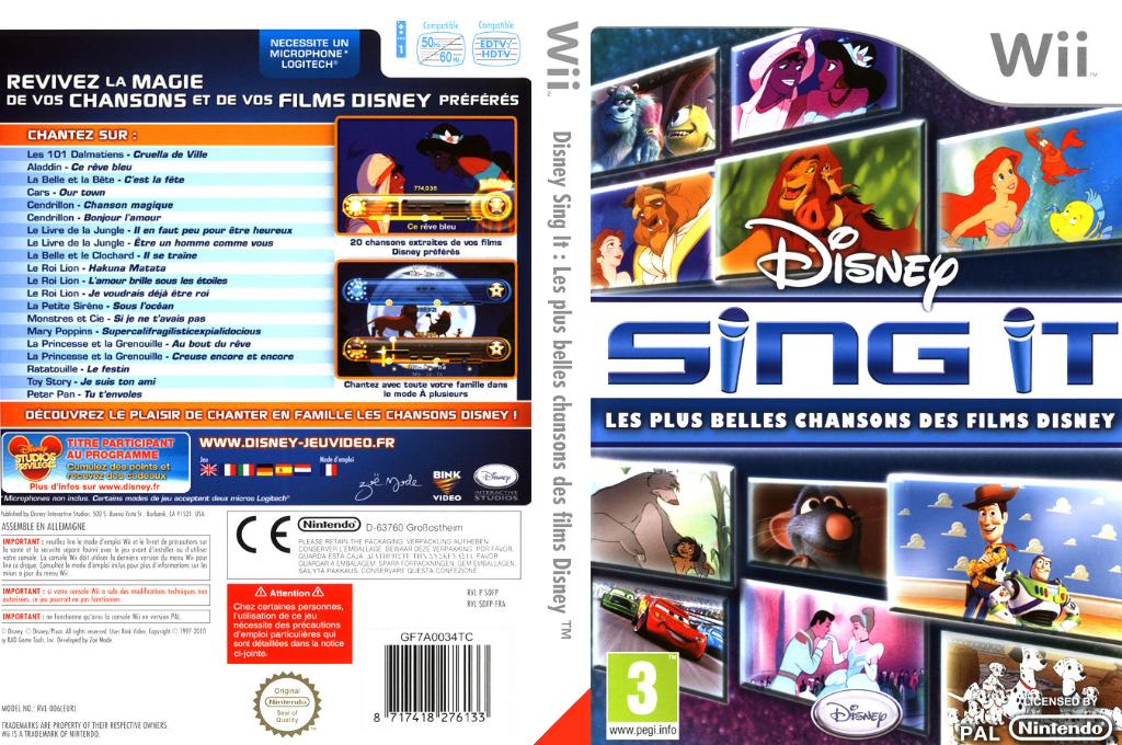 Disney Sing It:Les Plus Belles Chansons des Films Disney Wii coverfullHQ (SDFP4Q)