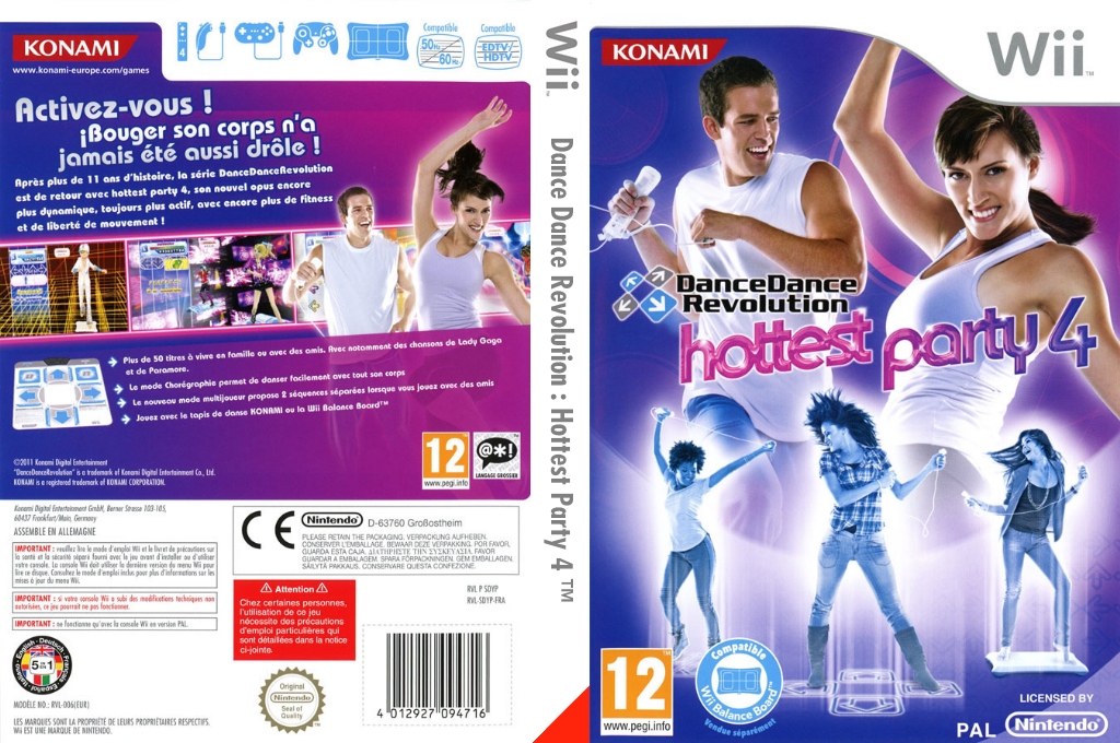 Dance Dance Revolution:Hottest Party 4 Wii coverfullHQ (SDYPA4)