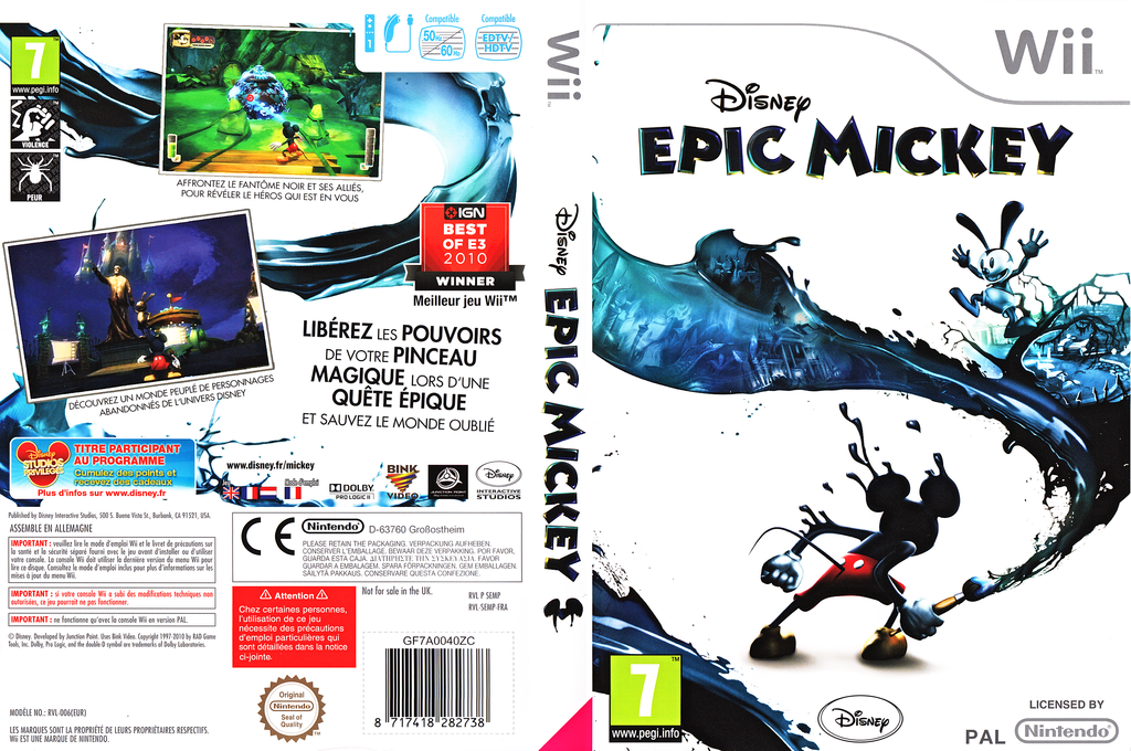 Disney Epic Mickey Wii coverfullHQ (SEMP4Q)