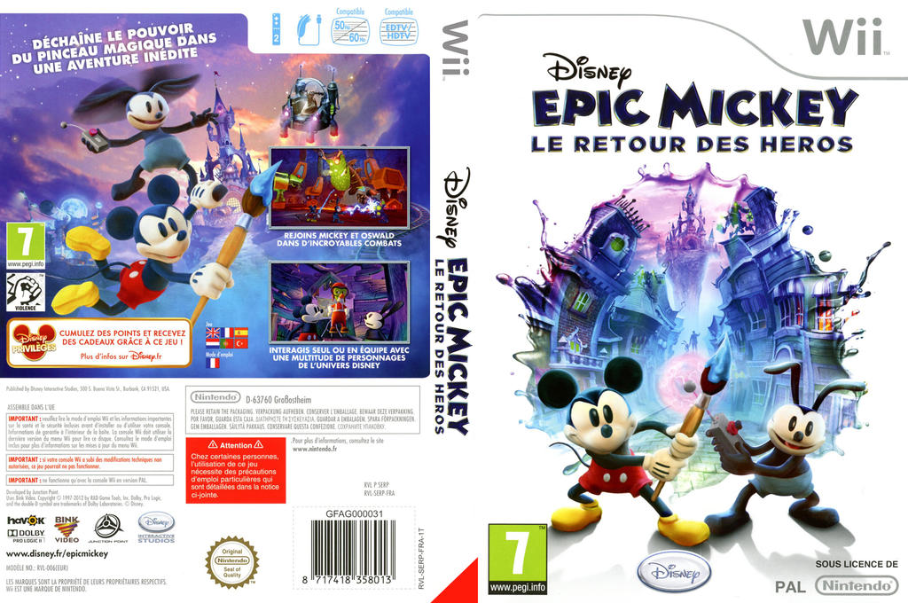 Disney Epic Mickey:Le Retour des Héros Wii coverfullHQ (SERF4Q)