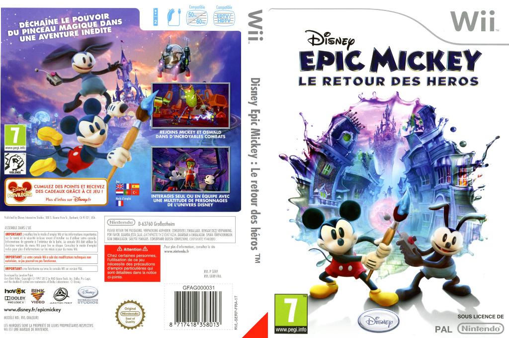 Disney Epic Mickey:Le retour des héros Wii coverfullHQ (SERP4Q)