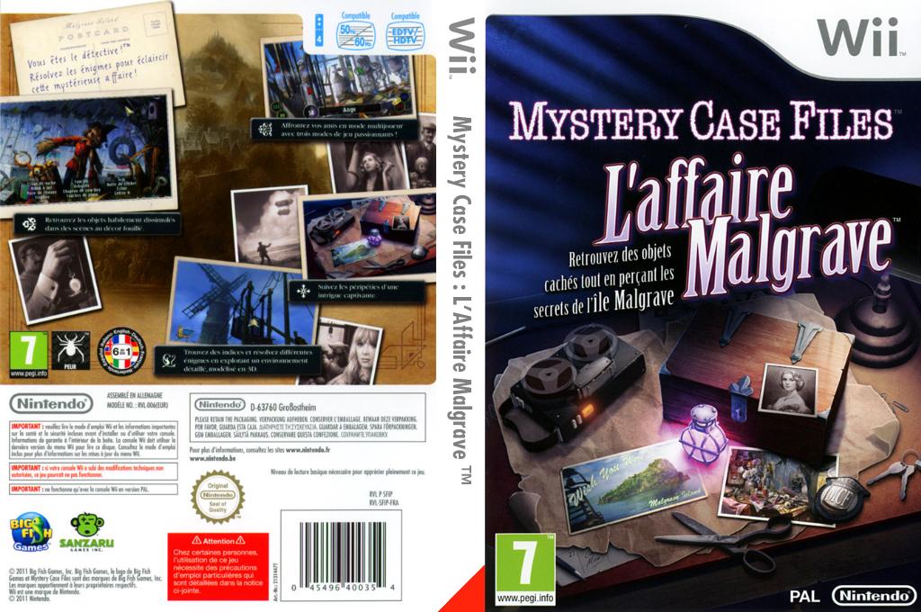 Mystery Case Files :L'Affaire Malgrave Wii coverfullHQ (SFIP01)