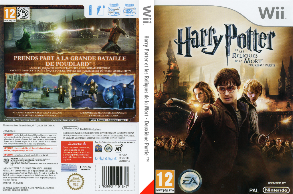 Harry Potter et les Reliques de la Mort - Deuxième Partie Wii coverfullHQ (SH5P69)