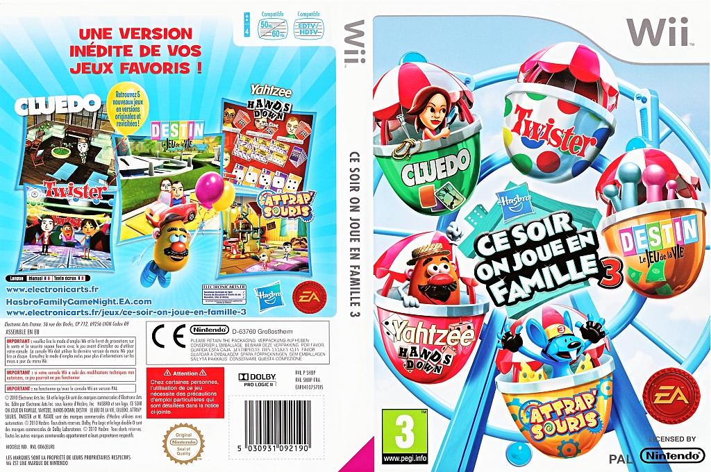 Hasbro:Best of des Jeux en Famille Vol. 3 Wii coverfullHQ (SHBP69)