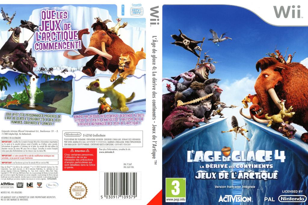 L'Âge de glace 4 :La dérive des continents-Jeux de l'Arctique Wii coverfullHQ (SIAP52)