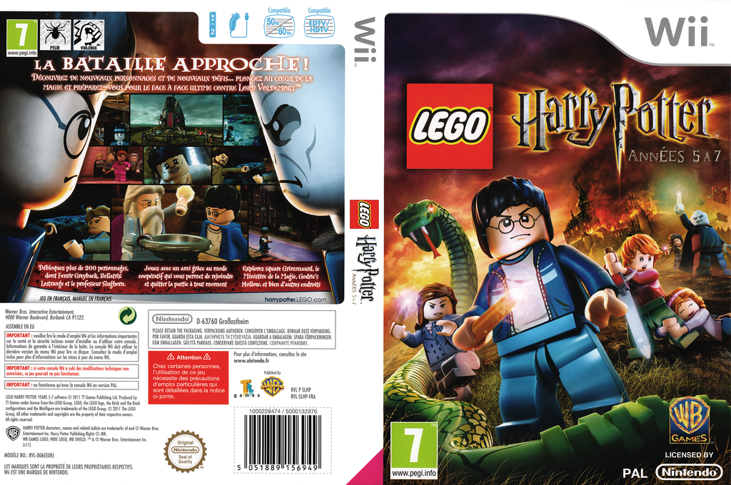 LEGO Harry Potter:Années 5 à 7 Wii coverfullHQ (SLHPWR)