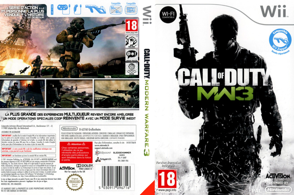 Call of Duty : Modern Warfare 3 Wii coverfullHQ (SM8F52)