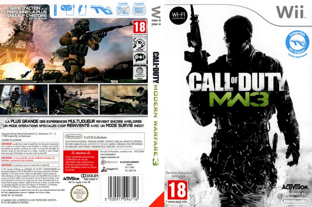 Call of Duty:Modern Warfare 3 Wii coverfullHQ (SM8F52)