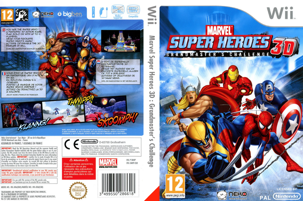 Marvel Super Heroes 3D Wii coverfullHQ (SMHPNK)