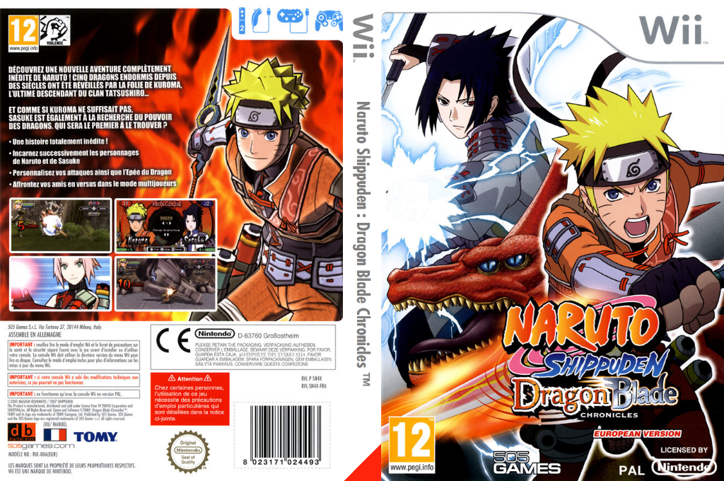 Naruto Shippuden :Dragon Blade Chronicles Wii coverfullHQ (SN4XGT)