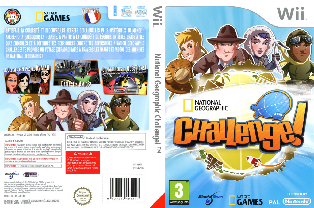 National Geographic Challenge! Wii coverfullHQ (SNQPLG)