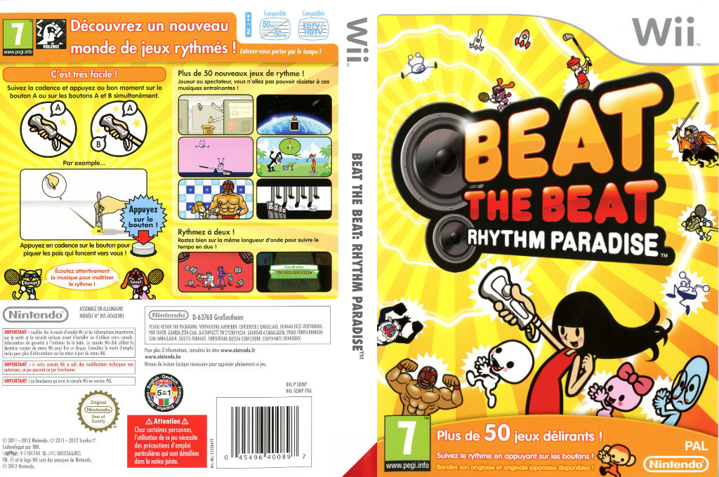 Beat the Beat : Rhythm Paradise Wii coverfullHQ (SOMP01)