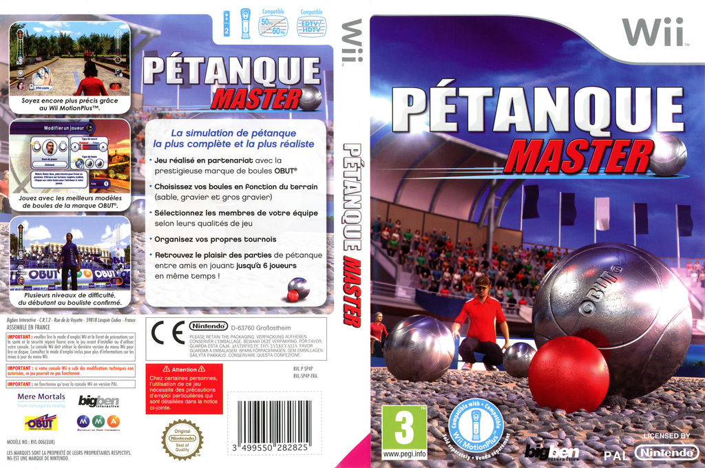Pétanque Master Wii coverfullHQ (SP4PJW)