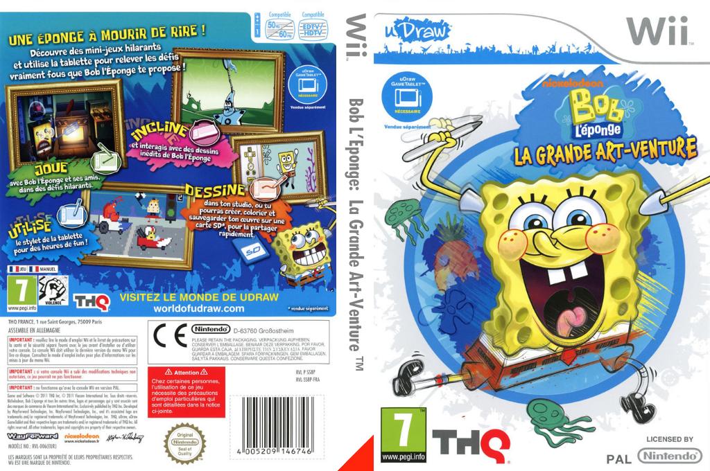 Bob L'Eponge: La Grande Art-Venture Wii coverfullHQ (SS8P78)