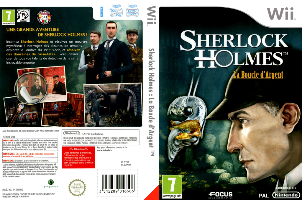 Sherlock Holmes :La Boucle d'Argent Wii coverfullHQ (SSHPHH)