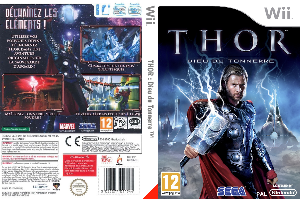 THOR :Dieu du Tonnerre Wii coverfullHQ (STHP8P)