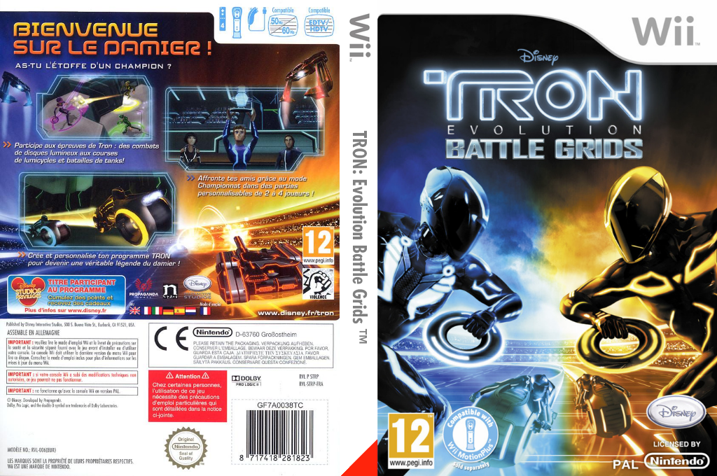 TRON : Evolution Battle Grids Wii coverfullHQ (STRP4Q)