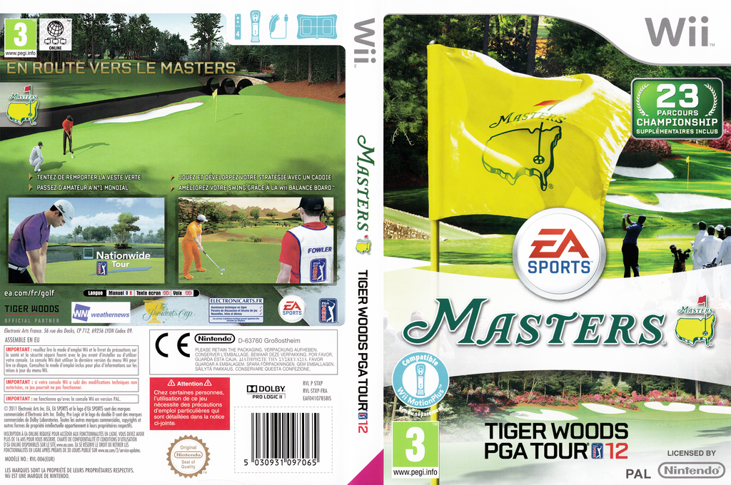 Tiger Woods PGA Tour 12 :The Masters Wii coverfullHQ (STXP69)