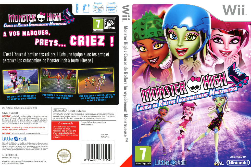 Monster High:Course de Rollers Incroyablement Monstrueuse Wii coverfullHQ (SU5PVZ)