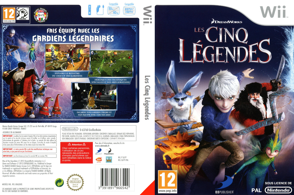 Les Cinq Légendes Wii coverfullHQ (SU7PAF)
