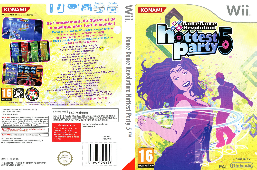 Dance Dance Revolution: Hottest Party 5 Wii coverfullHQ (SURPA4)