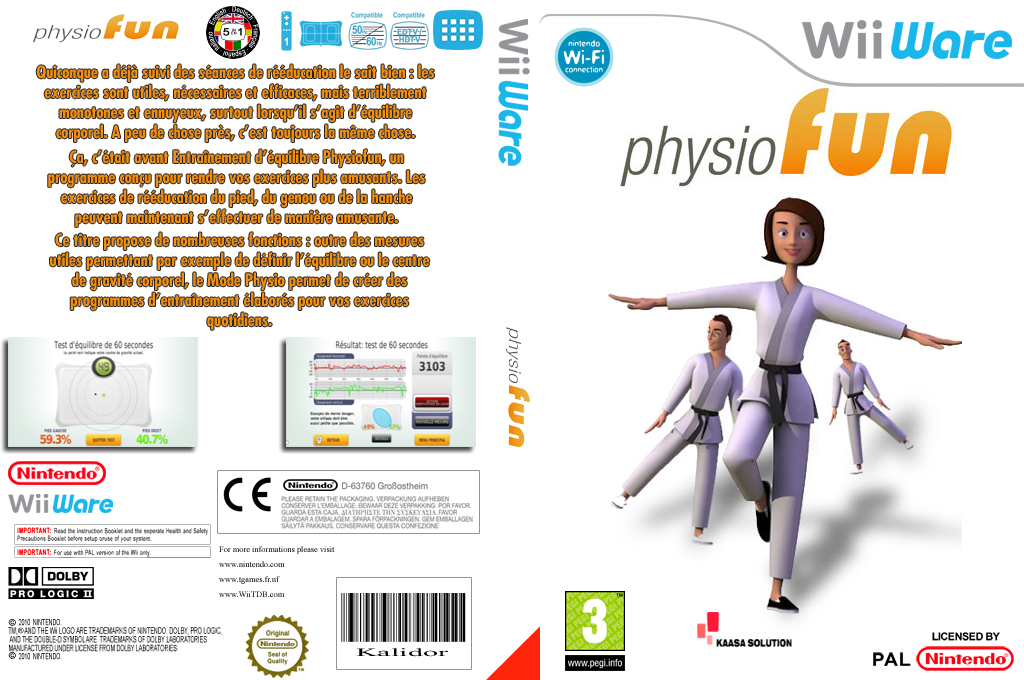 Entrainement d'équilibre Physiofun Wii coverfullHQ (W2FP)