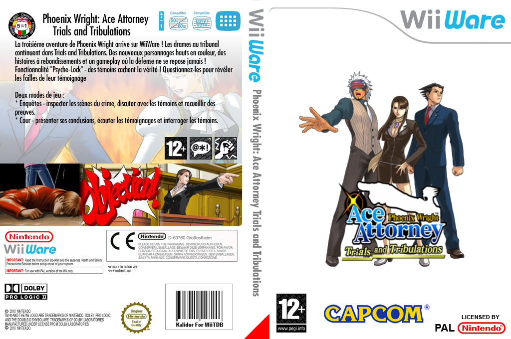 Phoenix Wright Ace Attorney : Trials and Tribulations Wii coverfullHQ (W3GP)