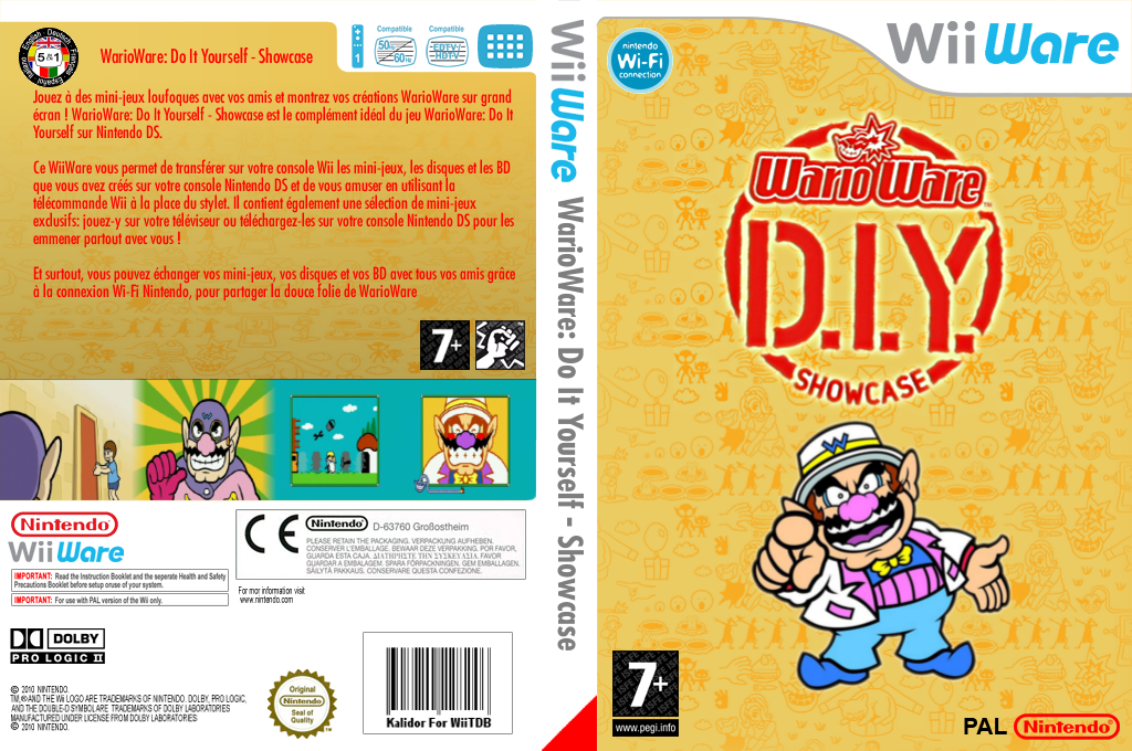 WarioWare : Do It Yourself - Showcase Wii coverfullHQ (WA4P)