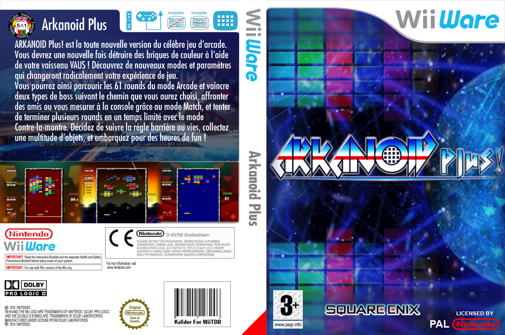 Arkanoid Plus! Wii coverfullHQ (WBKP)