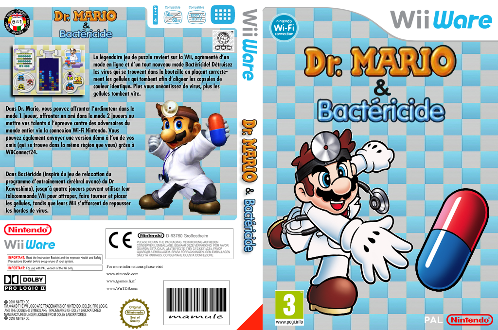 Dr. Mario & Bactericide Wii coverfullHQ (WDMP)