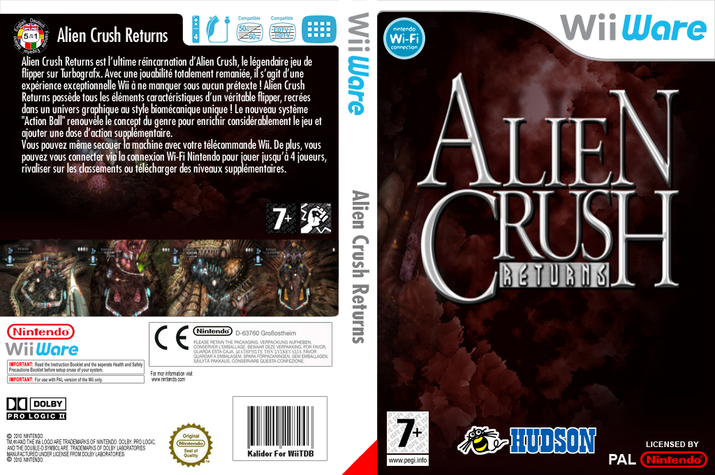 Alien Crush Returns Wii coverfullHQ (WE9P)