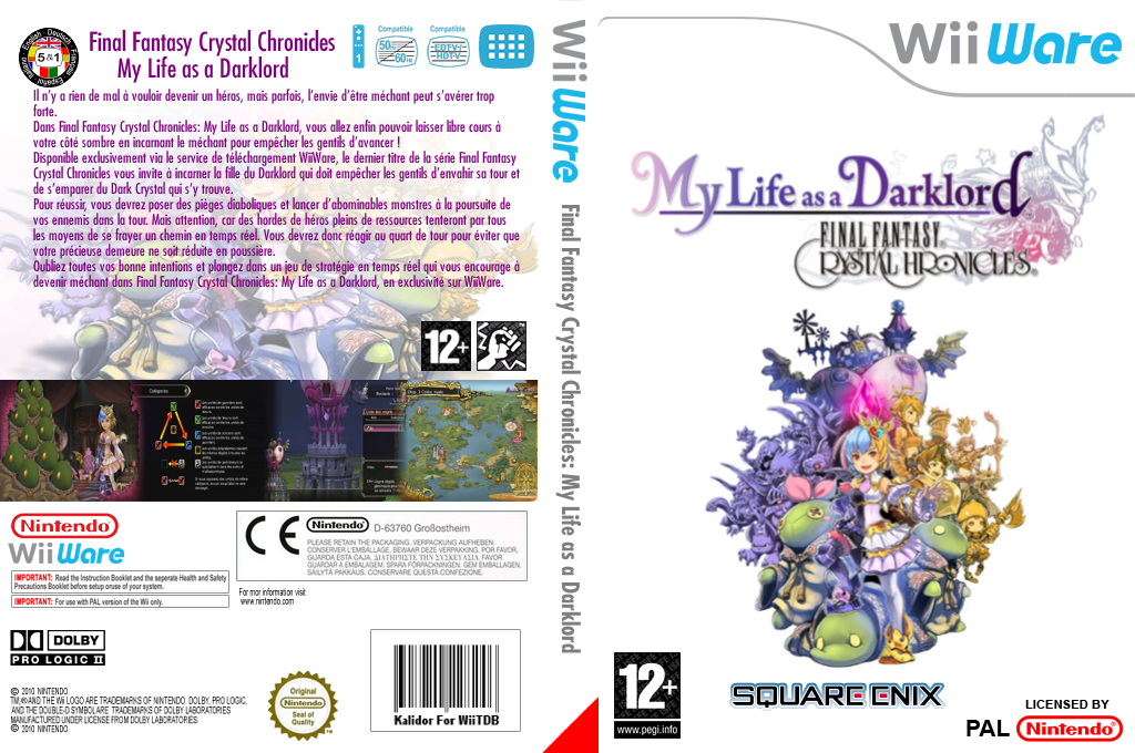 Final Fantasy Crystal Chronicles : My Life as a Darklord Wii coverfullHQ (WF2P)