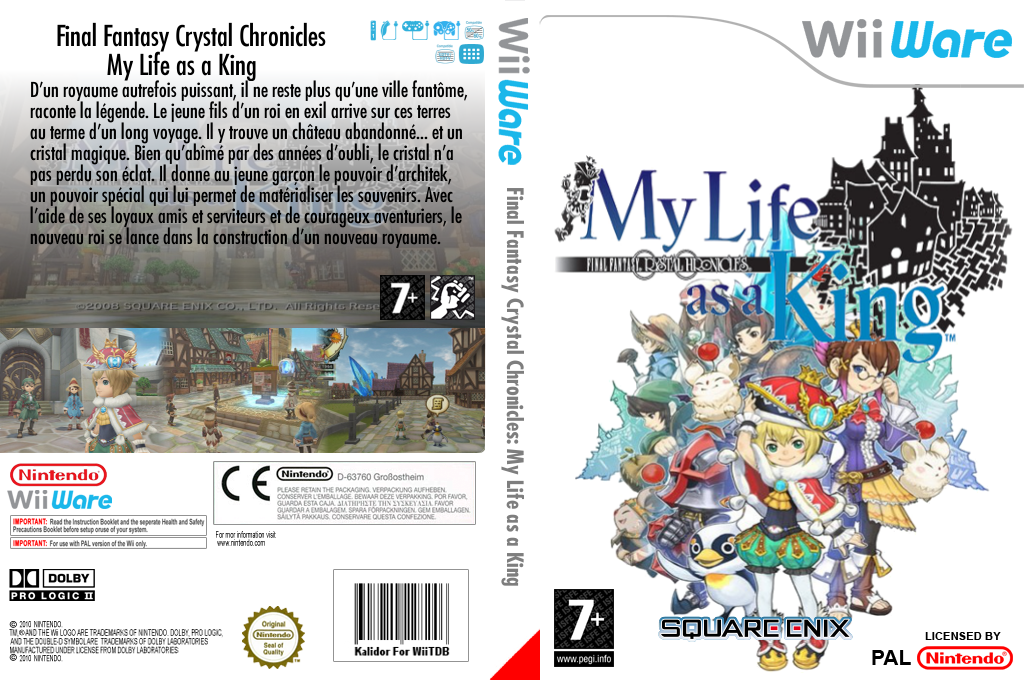 Final Fantasy Crystal Chronicles : My Life as a King Wii coverfullHQ (WFCP)