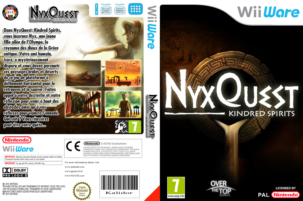 NyxQuest : Kindred Spirits Wii coverfullHQ (WICP)