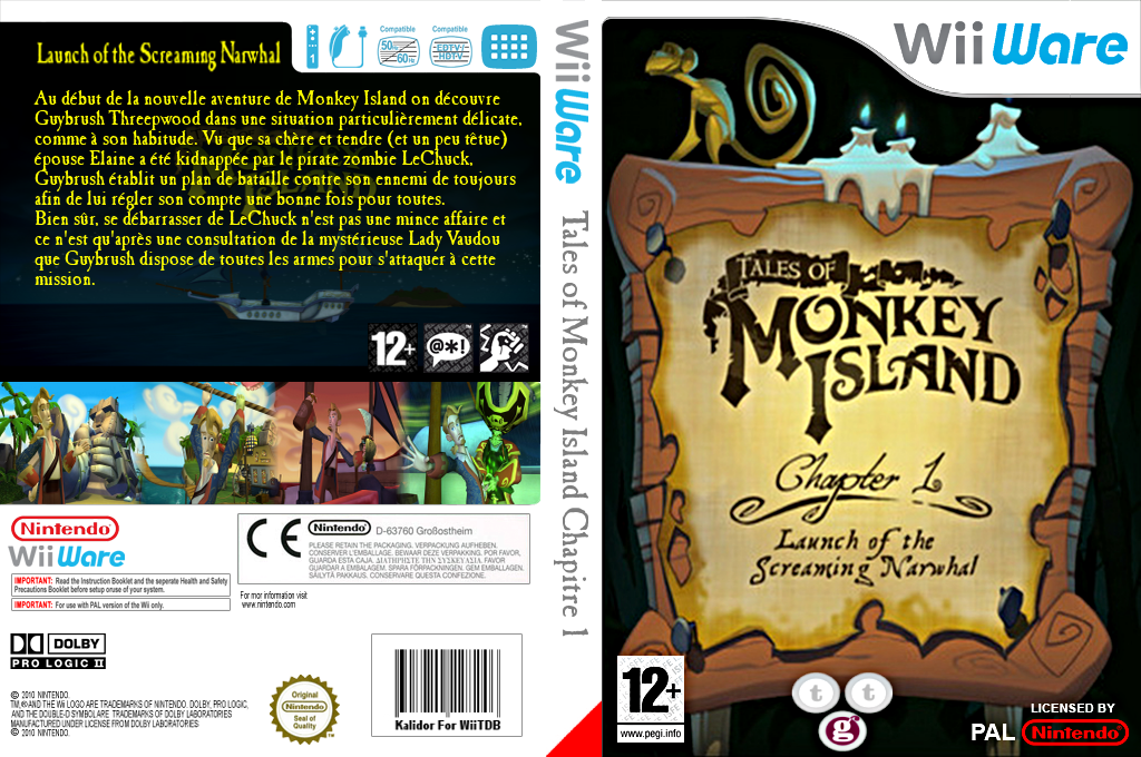 Tales of Monkey Island Chapter 1:Launch of the Screaming Narwhal Wii coverfullHQ (WILP)