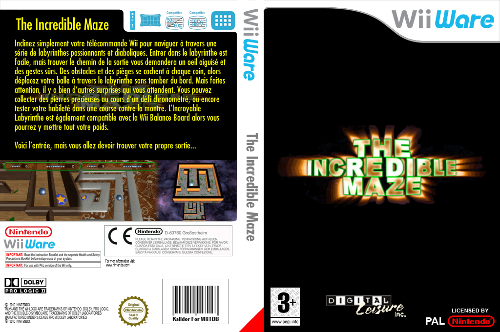 The Incredible Maze Wii coverfullHQ (WINP)