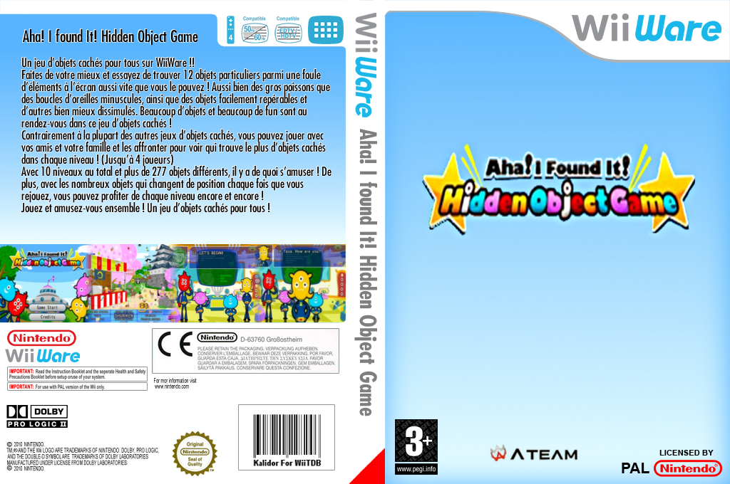 Aha! I Found It! Hidden Object Game Wii coverfullHQ (WITP)