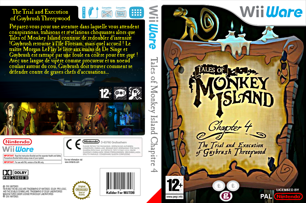 Tales of Monkey Island Chapter 4 : The Trial and Execution of Guybrush Threepwood Wii coverfullHQ (WIYP)