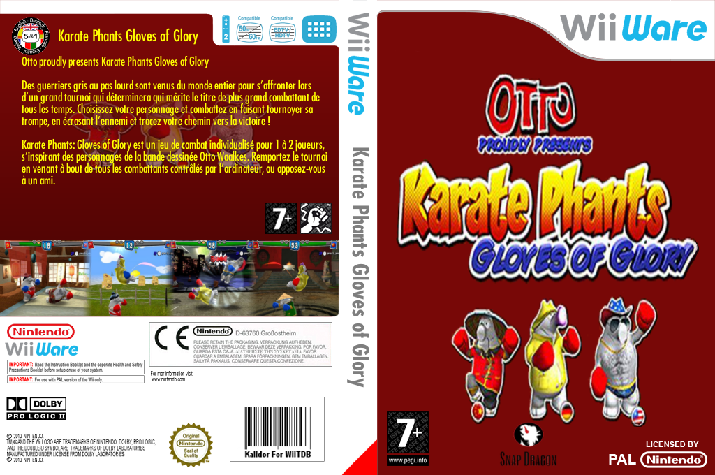 Karate Phants : Gloves of Glory Wii coverfullHQ (WKRP)