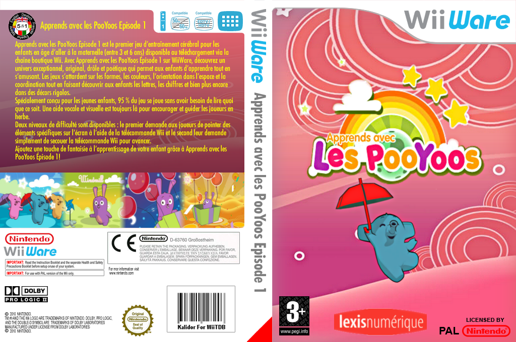 Apprends avec les PooYoos: Episode 1 Wii coverfullHQ (WLEP)