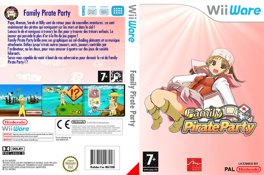 Family Pirate Party Wii coverfullHQ (WO6P)
