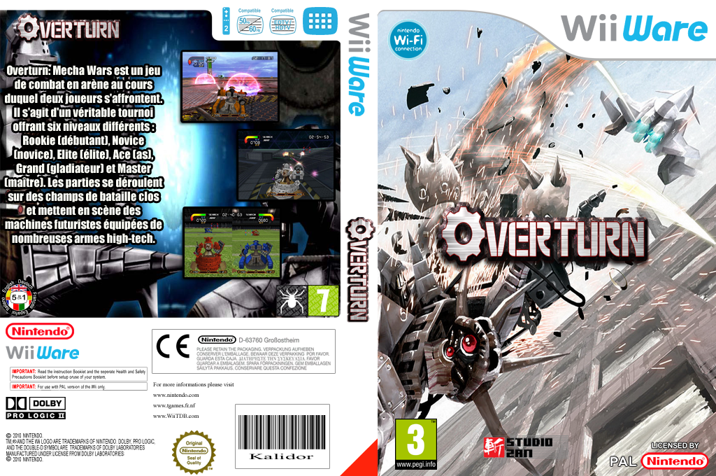 Overturn:Mecha Wars Wii coverfullHQ (WOTP)