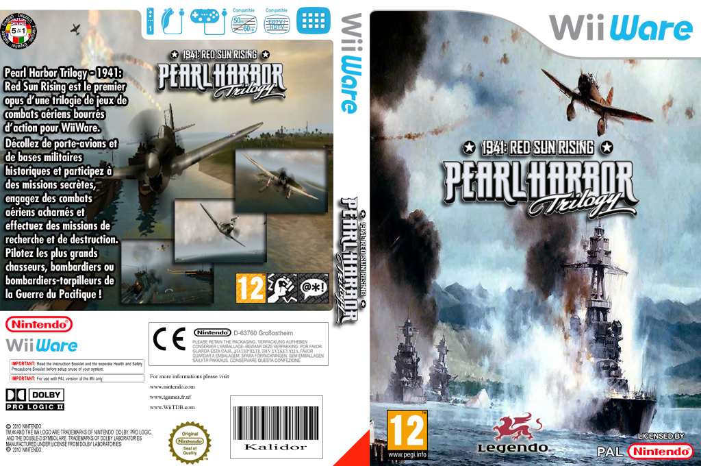 Pearl Harbor Trilogy 1941: Red Sun Rising Wii coverfullHQ (WP3P)