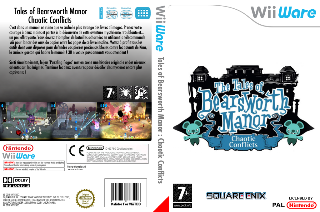 The Tales of Bearsworth Manor - Chaotic Conflicts Wii coverfullHQ (WPVP)