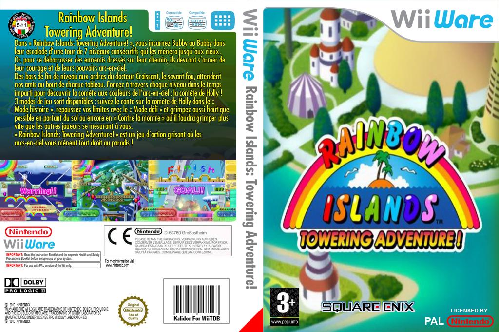 Rainbow Islands:Towering Adventure! Wii coverfullHQ (WRIP)