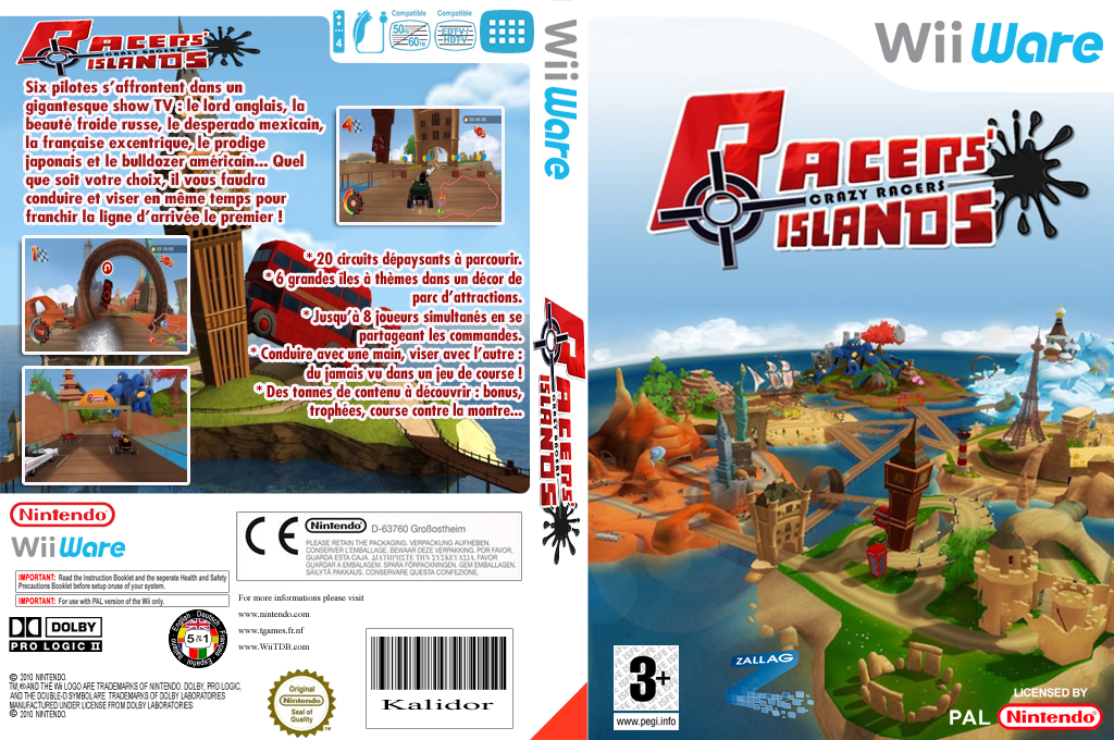 Racers Islands - Crazy Racers Wii coverfullHQ (WRJP)