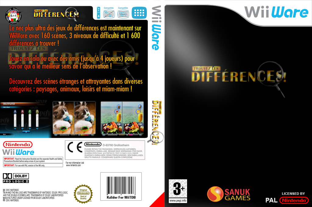 Trouvez les Differences! Wii coverfullHQ (WSJP)
