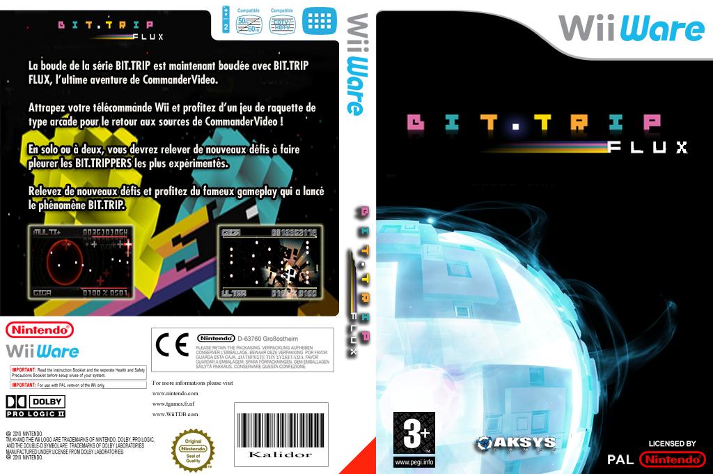 Bit.Trip Flux Wii coverfullHQ (WTFP)