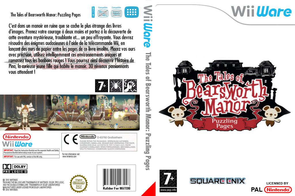 The Tales of Bearsworth Manor - Puzzling Pages Wii coverfullHQ (WZZP)