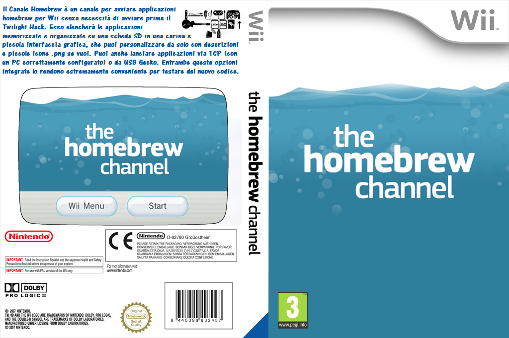Canale Homebrew Wii coverfullHQ (OHBC)